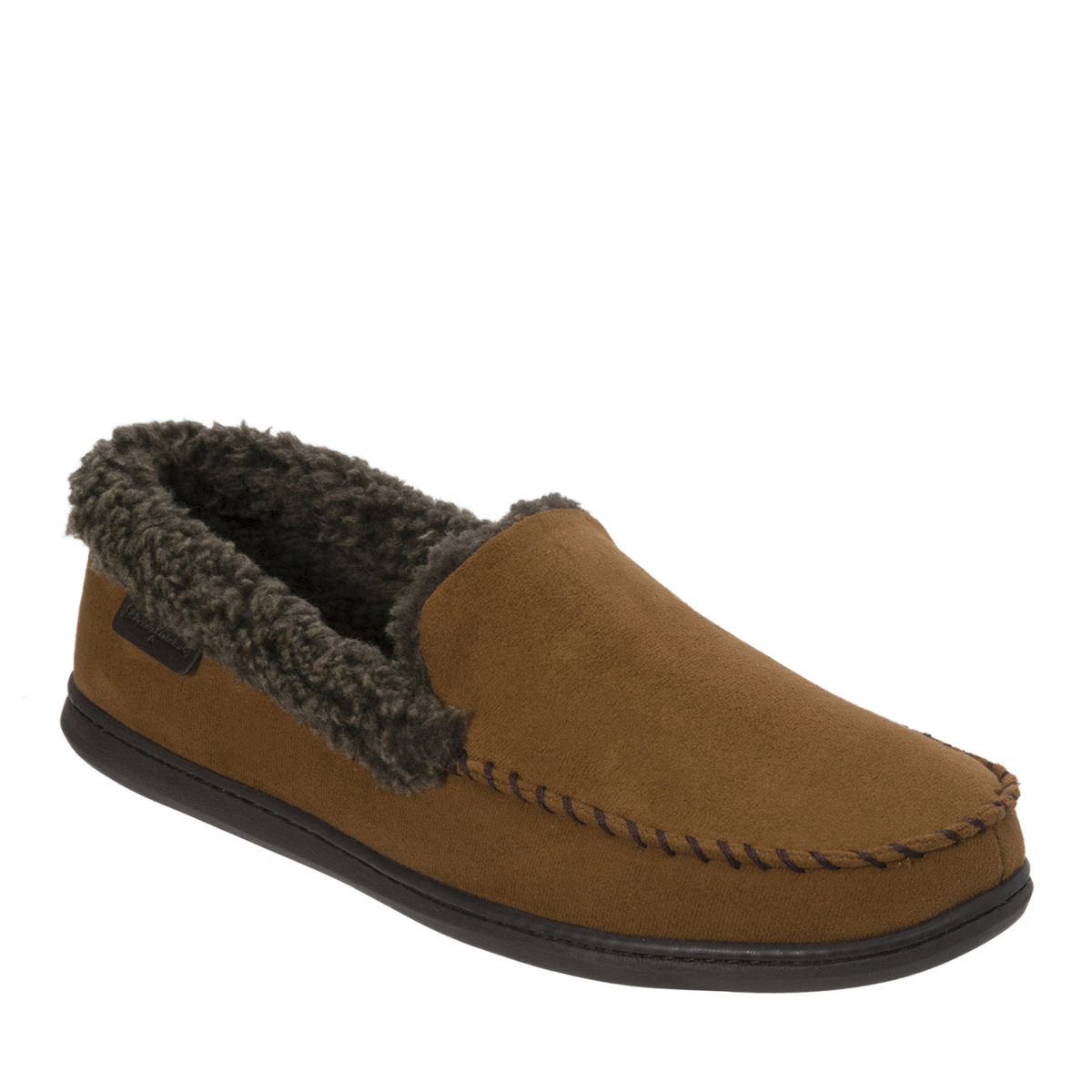 99673a03ce8 Men s Dearfoam Microsuede Moc with Whipstitch and Mem Foam - The ...